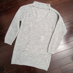MISSGUIDED from REVOLVE Grey Knit Choker Tunic